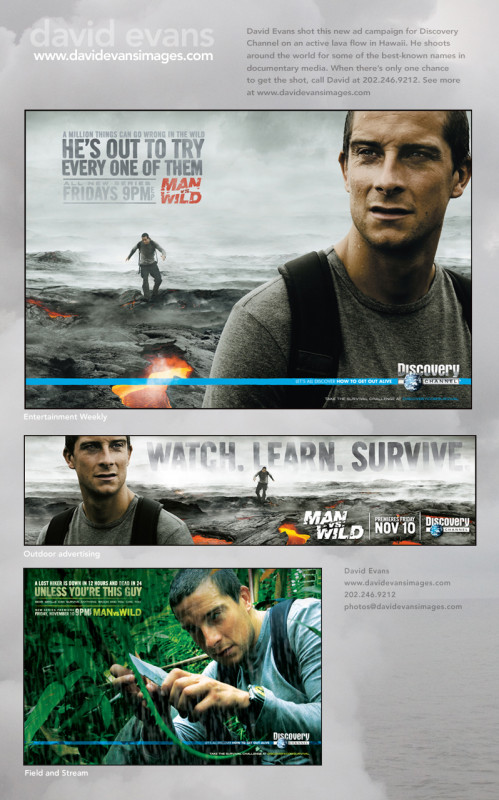 """Discovery Channel Program """"Man Vs. Wild"""" Shot on an active lava flow in Hawaii"""