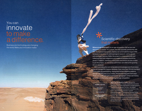 IBM Annual Report Features Genographic Project photograph by David Evans