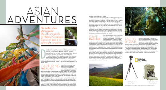 Photo District News magazine features David Evans and his work with National Geographic