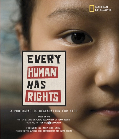 """Cover: """"Every Human has Rights. A Photo Declaration for Kids"""""""