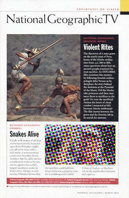 "National Geographic Magazine ""Moche Murder Mystery"""