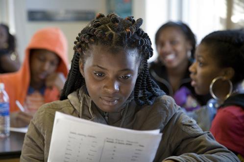 Student at a Bill & Melinda Gates Foundation-funded magnet school, Washington, DC