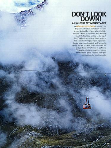 The world's tallest cable car Mérida, Venezuela